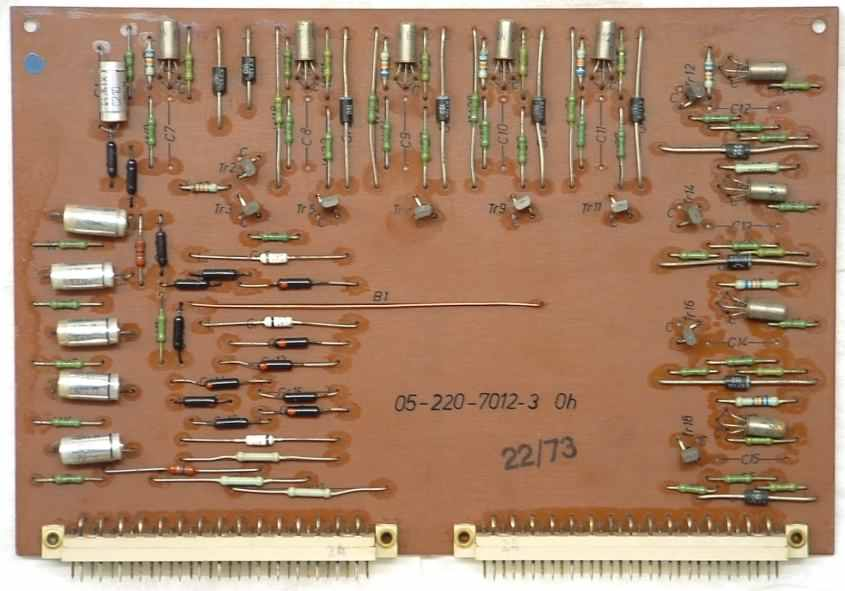 Board 12, Cathode drivers and number keys encoding