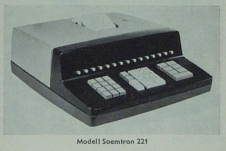 Early model Soemtron ETR221, ©2009 Serge Devidts, click image for a larger version